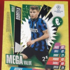 Trading Cards: CARD TOPPS MATCH ATTAX CHAMPIONS LEAGUE NICOLO BARELLA INTER MILAN MEGA VALUE. Lote 277617608