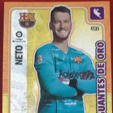 Trading Cards: CARD PANINI ADRENALYN XL NETO BARCELONA GUANTES DE ORO. Lote 277618008
