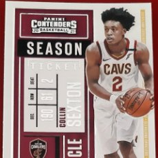 Trading Cards: CARD PANINI CONTENDERS NBA 2020-21 COLLIN SEXTON CLEVELAND CAVALIERS. Lote 277619223