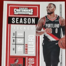 Trading Cards: CARD PANINI CONTENDERS NBA 2020-21 DAMIAN LILLARD PORTLAND TRAIL BLAZERS. Lote 277619443