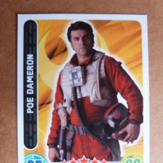 Trading Cards: CROMO Nº 84 TOPPS FORCE ATTAX STAR WARS - PILOTO POE DAMERON. Lote 278415588