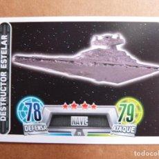 Trading Cards: CROMO Nº 71 TOPPS FORCE ATTAX STAR WARS - NAVE DESTRUCTOR ESTELAR. Lote 278415898