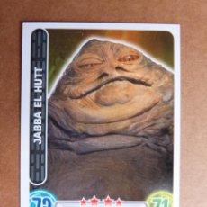 Trading Cards: CROMO Nº 77 TOPPS FORCE ATTAX STAR WARS - SEÑOR DEL CRIMEN JABBA EL HUTT. Lote 278416593