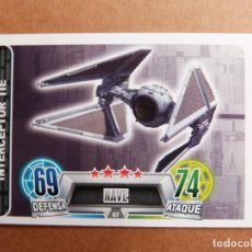 Trading Cards: CROMO Nº 67 TOPPS FORCE ATTAX STAR WARS - NAVE INTERCEPTOR TIE. Lote 278416823