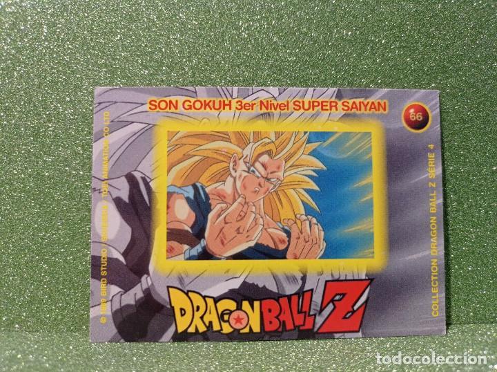 Trading Cards: CARTA DRAGON BALL Z SERIE 4 Nº 66 SON GOKUH 3er Nivel SUPER SAIYAN - Foto 2 - 279405533