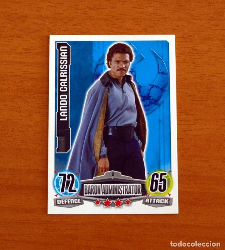 STAR WARS - Nº 8, LANDO CALRISSIAN, BARON ADMINISTRATOR - TOPPS FORCE ATTAX - TRADING CARD GAME 2012 (Coleccionismo - Cromos y Álbumes - Trading Cards)