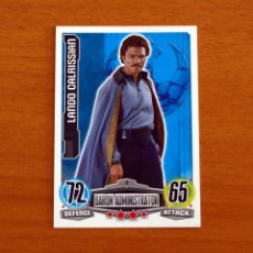 Trading Cards: STAR WARS - Nº 8, LANDO CALRISSIAN, BARON ADMINISTRATOR - TOPPS FORCE ATTAX - TRADING CARD GAME 2012. Lote 284604343