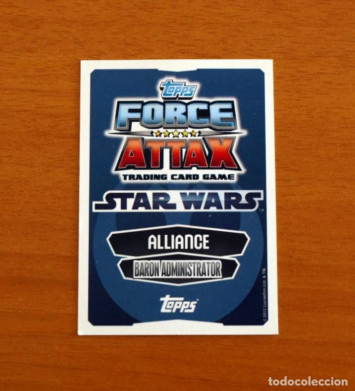 Trading Cards: Star Wars - Nº 8, Lando Calrissian, Baron Administrator - Topps Force Attax - Trading Card Game 2012 - Foto 2 - 284604343