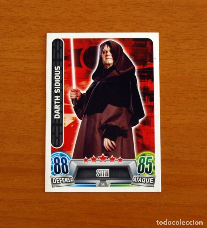 STAR WARS - Nº 14, DARTH SIDIOUS, SITH - TOPPS FORCE ATTAX - TRADING CARD GAME (Coleccionismo - Cromos y Álbumes - Trading Cards)