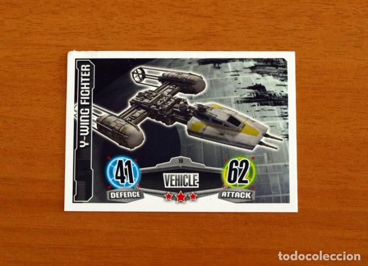 STAR WARS - Nº 19, Y-WING FIGHTER, VEHICLE - TOPPS FORCE ATTAX - TRADING CARD GAME 2012 (Coleccionismo - Cromos y Álbumes - Trading Cards)