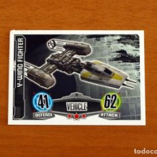 Trading Cards: STAR WARS - Nº 19, Y-WING FIGHTER, VEHICLE - TOPPS FORCE ATTAX - TRADING CARD GAME 2012. Lote 284612258