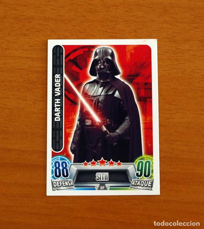 STAR WARS - Nº 27, DARTH VADER, SITH - TOPPS FORCE ATTAX - TRADING CARD GAME (Coleccionismo - Cromos y Álbumes - Trading Cards)