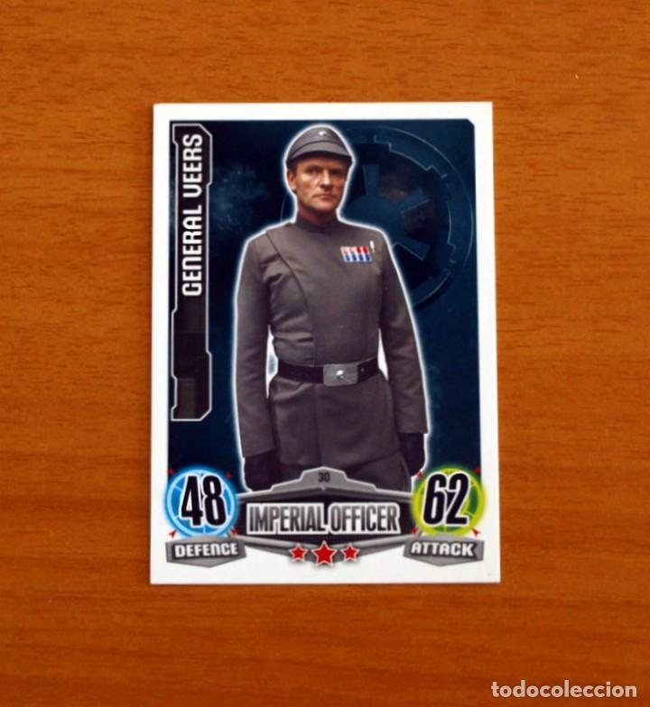 STAR WARS - Nº 30, GENERAL VEERS, IMPERIAL OFFICER - TOPPS FORCE ATTAX - TRADING CARD GAME 2012 (Coleccionismo - Cromos y Álbumes - Trading Cards)