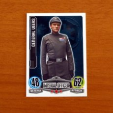 Trading Cards: STAR WARS - Nº 30, GENERAL VEERS, IMPERIAL OFFICER - TOPPS FORCE ATTAX - TRADING CARD GAME 2012. Lote 284616488