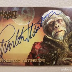 Trading Cards: AUTOGRAPH INTRADING CARD 2001 TOPPS PLANET OF THE APES CHARLTON HESTON - ESPECIAL COLECCIONISTAS. Lote 287397098