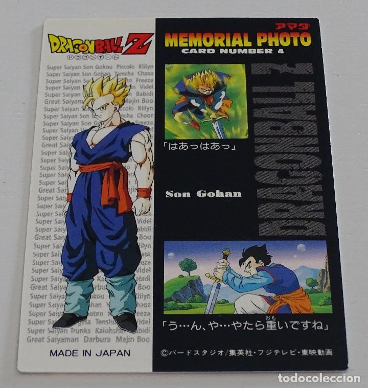 Trading Cards: Cromo Card (Nº 4) - Amada Dragon Ball Z Memorial Photo - Foto 2 - 287990193