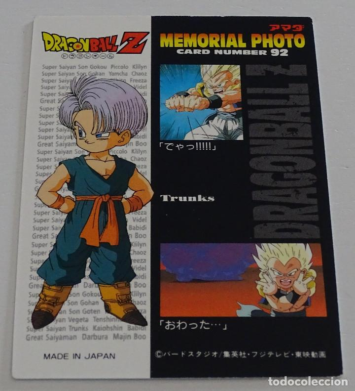 Trading Cards: Cromo Card (Nº 92) - Amada Dragon Ball Z Memorial Photo - Foto 2 - 287990363