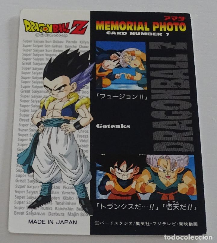 Trading Cards: Cromo Card (Nº 7) - Amada Dragon Ball Z Memorial Photo - Foto 2 - 287990453