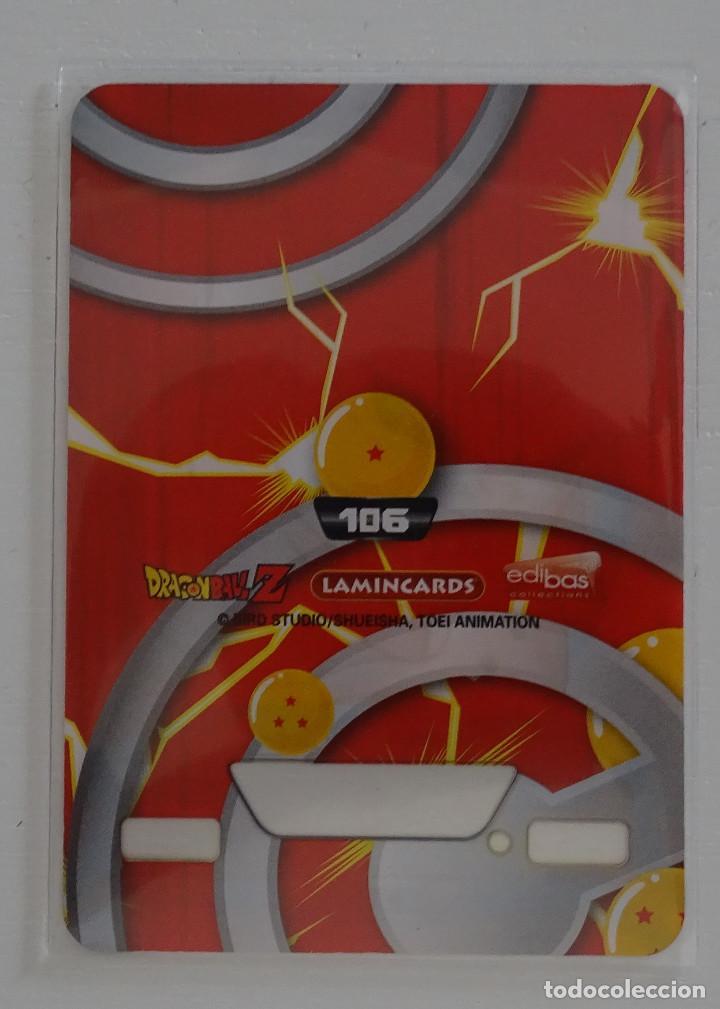 Trading Cards: Cromo Lamincard (Nº 106) - Edibas Dragon Ball Z New Edition Super 3D - Foto 2 - 288006303