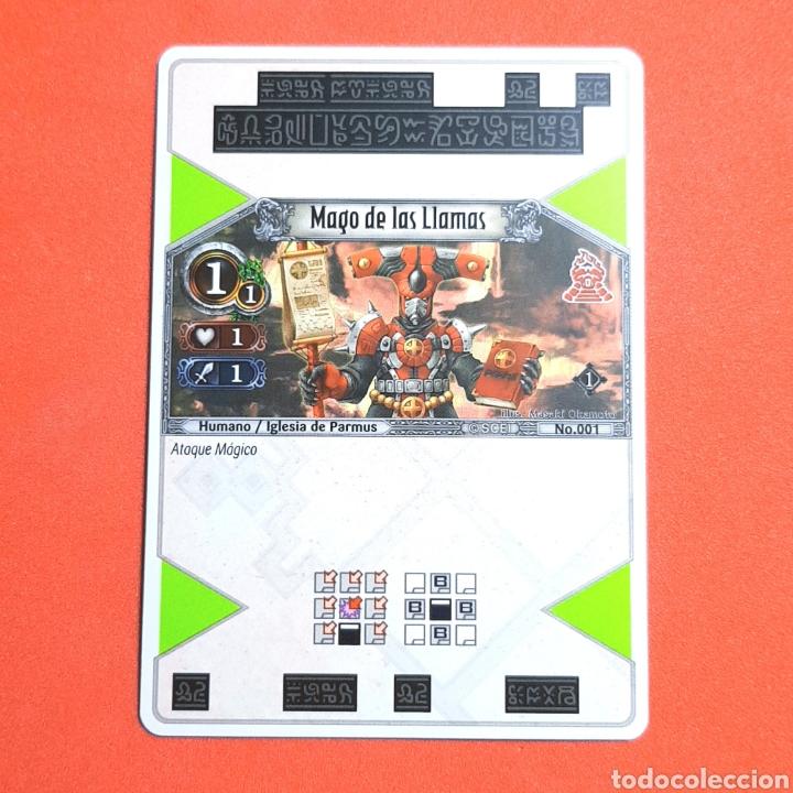(55.16) CARTA - THE EYE OF JUDGMENT - N°001 MAGO DE LAS LLAMAS (Coleccionismo - Cromos y Álbumes - Trading Cards)