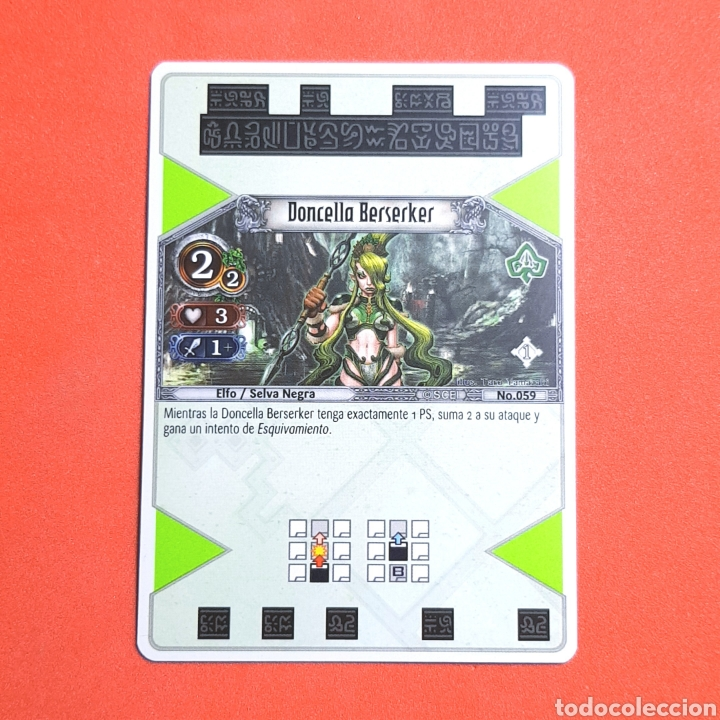 (55.16) CARTA - THE EYE OF JUDGMENT - N°059 DONCELLA BERSERKER (Coleccionismo - Cromos y Álbumes - Trading Cards)