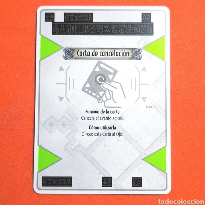 (55.16) CARTA - THE EYE OF JUDGMENT - CARTA DE CANCELACIÓN (Coleccionismo - Cromos y Álbumes - Trading Cards)