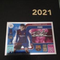 Trading Cards: PEDRI FIRMADA TOPPS 2021 2022. Lote 288470283