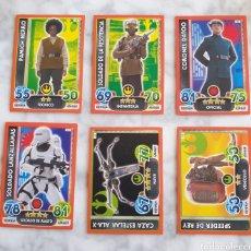 Trading Cards: LOTE DE 12 TOPPS STAR WARS FORCE ATTAX EXTRA DESPERTAR FUERZA 3 DE ELLAS EFECTO ESPEJO. Lote 288529073