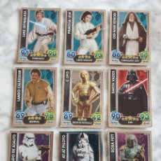 Trading Cards: LOTE 23 CARTAS TOPPS STAR WARS FORCE ATTAX 2015 EFECTO ESPEJO. Lote 288531518