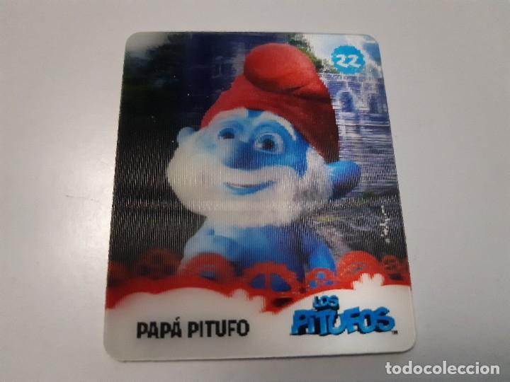 LOS PITUFOS CARTA 3D PAPA PITUFO 22/24 - SMURFS (Coleccionismo - Cromos y Álbumes - Trading Cards)
