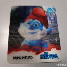 Trading Cards: LOS PITUFOS CARTA 3D PAPA PITUFO 22/24 - SMURFS. Lote 289346968