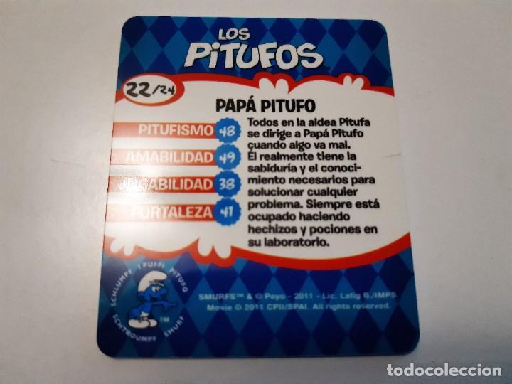 Trading Cards: LOS PITUFOS CARTA 3D PAPA PITUFO 22/24 - SMURFS - Foto 2 - 289346968