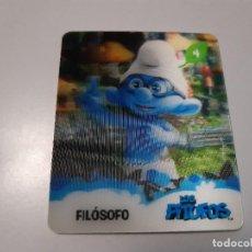 Trading Cards: LOS PITUFOS CARTA 3D FILOSOFO 4/24 - SMURFS. Lote 289347163