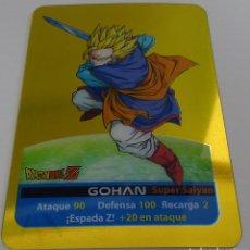 Trading Cards: CROMO LAMINCARD (Nº 10) - EDIBAS MUNDICROMO DRAGON BALL Z SERIE ORO (DORADA). Lote 290089653