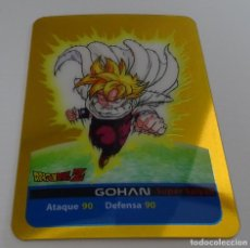 Trading Cards: CROMO LAMINCARD (Nº 4) - EDIBAS MUNDICROMO DRAGON BALL Z SERIE ORO (DORADA). Lote 290089953