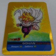 Trading Cards: CROMO LAMINCARD (Nº 4) - EDIBAS MUNDICROMO DRAGON BALL Z SERIE ORO (DORADA). Lote 290089983