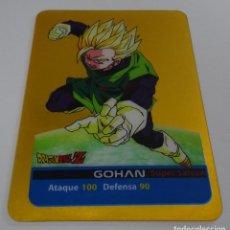 Trading Cards: CROMO LAMINCARD (Nº 7) - EDIBAS MUNDICROMO DRAGON BALL Z SERIE ORO (DORADA). Lote 290090033