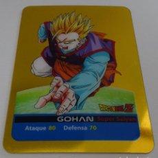 Trading Cards: CROMO LAMINCARD (Nº 9) - EDIBAS MUNDICROMO DRAGON BALL Z SERIE ORO (DORADA). Lote 290090128