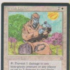 Trading Cards: MTG MAGIC THE GATHERING ELVISH HEALER SUMMON CLERIC CARD NAIPE CROMO M. Lote 290146003