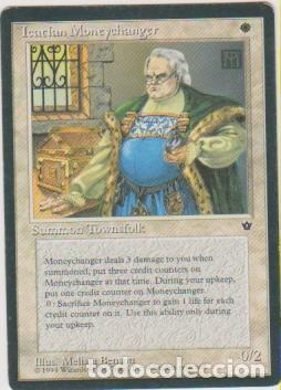 MTG MAGIC THE GATHERING ICATIAN MONEYCHANGER SUMMON TOWNSFOLK CARD NAIPE CROMO M (Coleccionismo - Cromos y Álbumes - Trading Cards)