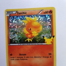 Trading Cards: CARTA POKEMON - MCDONALD'S 25 ANIVERSARIO MCDONAL MC DONALD MCDONALS -- BRILLANTE - Nº 11 TORCHIC. Lote 294434883