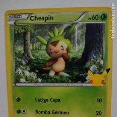 Trading Cards: CARTA POKEMON 25 ANIVERSARIO Nº 06- CHESPIN - MCDONALDS. Lote 294435763