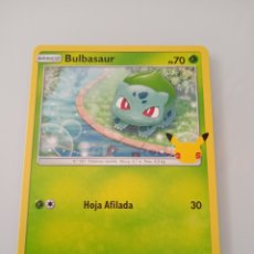 Trading Cards: 1 BULBASAUR POKEMON MC DONALD ANIVERSARIO. Lote 294834923
