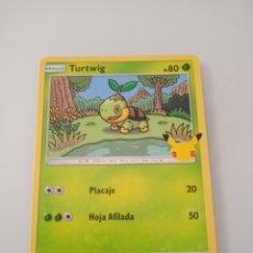 Trading Cards: 4 TURTWIG POKEMON MC DONALD ANIVERSARIO. Lote 294835103