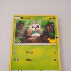 Trading Cards: 7 ROWLET POKEMON MC DONALD ANIVERSARIO. Lote 294835288