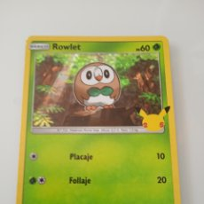Trading Cards: 7 ROWLET POKEMON MC DONALD ANIVERSARIO. Lote 294837093