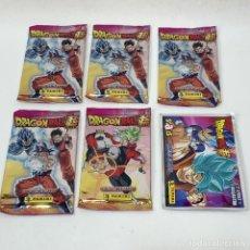 Trading Cards: LOTE 5 SOBRES SIN ABRIR DRAGON BALL SUPER + UNIVERSE SURVIVAL- 2 STAKS + 1 MEGASTAK - PANINI - NUEVO. Lote 295609723