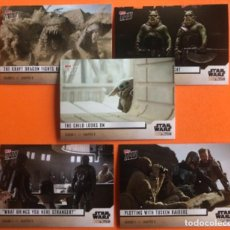 Trading Cards: TOPPS NOW STAR WARS THE MANDALORIAN SET 5 TRADING CARDS TEMPORADA 2 EPISODIO 9. Lote 296753143
