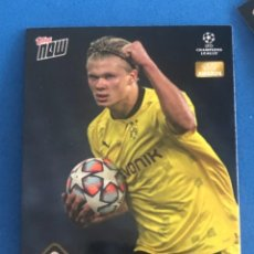 Trading Cards: TOPPS NOW HAALAND PREMIO DELANTERO UEFA CHAMPIONS LEAGUE 20/21 TRADING CARD. Lote 296753873