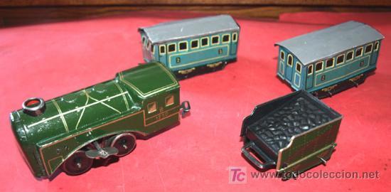 Trenes Escala: LOCOMOTORA DE CUERDA , TENDER Y 2 VAGONES - Foto 2 - 12270313